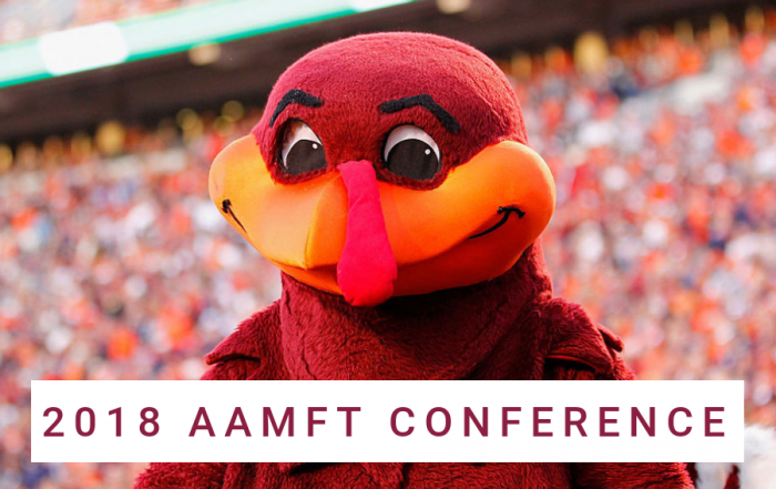 Hokie Bird at 2018 AAMFT Conference